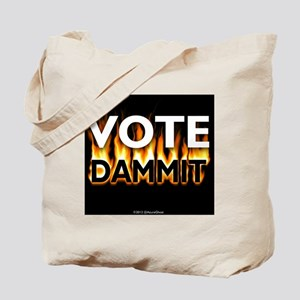 Vote Dammit - Orange Tote Bag
